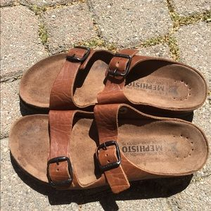 Mephisto Brown Men's Leather sandals size 7